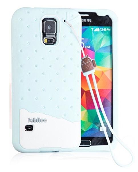 Fabitoo Samsung Galaxy S5 Candy Kılıf  Turkuaz